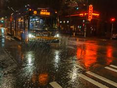 Lesser Seattle (sunrisesoup) Tags: rain seattle broadway capitolhill metro 49 julias trolley wet night dark nexc3 emount raindrops downpour sunrisesoup