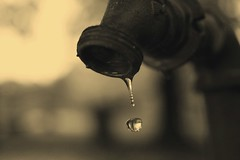 Slowly Drip (AlisAquilae) Tags: faucet old rusty water drop drip closeup frozen tears missingsomeone truth sepia canon canon5dmarkiii cemetery endings end