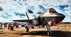 F-35 Lightening (txwhitacre - I think I'm back :)) Tags: f35 lightening2 d500 nikon fortworthallianceairshow airshow skys clouds fighterjet jets lockheed lockheedmartin