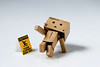 Danbo, It's Slippery When Wet 47/52 (vmabney) Tags: danbo danboard toys slippery water fall safety 52weeks 522016week47 give giveusyourbestshot