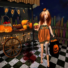- Look 673 - (aisha.cahir  {Blogger}) Tags: secondlife free lovehair hocuspocus halloween mesangeeyes lostfound eyesmesh eyesclassic gd shoe mag3b crown gift ns cupcake pumpkin kawaii