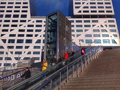 Diagonal lines (sander_sloots) Tags: stadhuis roltrap utrecht centraal station escalator people linies lijnen lift elevator mensen trap staircase office city hall