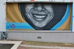 Fonki + Ender_5831 rue des Couronnes Paris 20 (meuh1246) Tags: streetart paris fonki ender ruedescouronnes paris20 belleville rideaumtallique gargouille