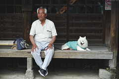 鎌倉・極楽寺 ∣ Gokurakuji・Kamakura (Iyhon Chiu) Tags: 2016 鎌倉 日本 極楽寺 極楽寺駅 湘南 春 犬 狗 spring kamakura japan gokurakuji dog man