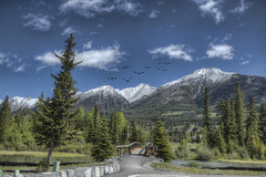 Banff National Park 66 (Largeguy1) Tags: approved banff national park landscape mountains blue sky clouds canon 5d mark iii