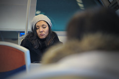 sleeping (smooth.bokeh) Tags: stranger train commuting zeiss zeiss85mmf28cy inconnue sleep sommeil share