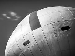[UFO just landing] (Stadt_Kind) Tags: mostinteresting popular flickr new europe germany munich bavaria kempten stadtkind microfourthirds mft olympus124028pro olympusem10markii architecture architecturephotography architektur modern nd64 ndfilter longexposure round abstract abstrakt ufo spaceshuttle bmwworld bmwwelt building fassade urbex urban minimalism