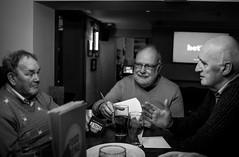 2016_339 (Chilanga Cement) Tags: fuji fujix100t fujixt1 x100t xseries x100s x100 x bw blackandwhite monochrome men pub beer quiz quizzing question questions drinking