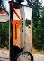 Rear View (ofarrl) Tags: usa california donnerpass interstate i80 schneidernational truck trucking sierranevada mountains 1995 westcoast transport highway bigrig semitruck 18wheeler