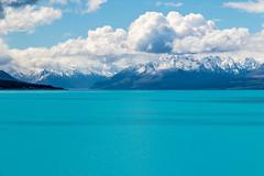 Lago Pukkaki y Montaas (Andrs Guerrero) Tags: canterbury lago lagopukkaki lake newzealand nuevazelanda oceana pukkaki pukkakilake mountcooknationalpark oceania montaa montaas turquesa blue azul airelibre tranquilidad peaceful islasur southisland turquoise