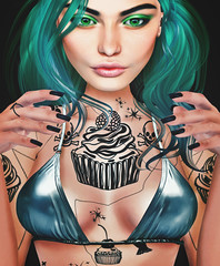 THIS IS WRONG Killer cupcake - exclusive for Suicide Dollz (THIS IS WRONG - Eva Artemesia (owner)) Tags: applier event tattoo ink maitreya belleza slink cupcake killer suicide doll dollz