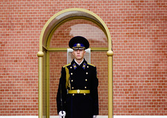 Guard stands at the Red Square in Moscow, Russia (phuong.sg@gmail.com) Tags: aleksander alexanders attraction ceremonial city eternal famous garden grave guard helmet honor honour kremlin landmark memorial memory men military monument moscow outdoors people red russia russian second sentry service sightseeing soldier star stone summer tomb tourism travel troop unknown victim wall war warrior winner world