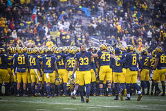 IMG_8105 (samiistoloff) Tags: football michigan michiganfootball maize umich emotion jimharbuagh jumpman uofmich theteam ncaa nike bigten bigtennetwork btn btnxtakeover blue harbuagh celebration wolverines class project aptop25 rain jordan photographer si110 sports likes photos white red photo indiana hoosiers jakebutt snow