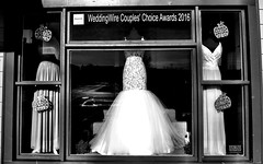 Dresses (Dennis Sparks) Tags: bridesdress dresses michigan plymouth blackwhite canonpowershots120