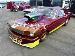 1965 Ford Mustang (bballchico) Tags: 1965 ford mustang prostreet flames dragcar genekirner racecar 657 thmachine arlingtoncarshow carshow 1960s 206 washingtonstate arlingtonwashington