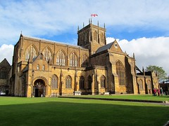 Sherborne Abbey (pefkosmad) Tags: sherborne abbey dorset england uk placeofworship hallowedground holy churchofengland anglican church abbeyofstmary englandsthousandbestchurches fanvaulting carved bosses misericords tower stainedglass windows font pulpit organ altar stadhelm