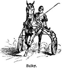 Anglų lietuvių žodynas. Žodis sulky reiškia a niūrus, paniuręs, surūgęs, susiraukęs lietuviškai.