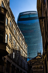 The Inevitable (K3EPhoto) Tags: london town city england nikon d7000 k3ephoto modern old contrast colour color thames britain glass steel stone window office walk view perspective line lines look up sky walkie talkie fenchurch street