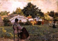 DSA149104 (go4the57) Tags: dsa149104 at dacha 1892 oil panel 99country cottage rural sitting garden relaxing relaxation impressionist dusk kostandi kiviak konstantinov 18521921  odessa fine arts museum ukraine russian topographical rest world russia surrounding countries park scenes stately homes c17th