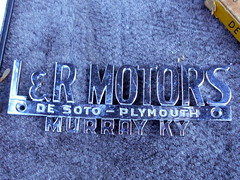 1956 DeSoto Firedome (splattergraphics) Tags: 1956 desoto firedome dealerbadge dealernameplate lrmotors mopar carshow eastpennmodifiers telfordpa