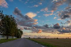 Clouded evening Sky