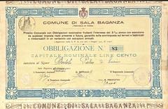 COMUNE DI SALA BAGANZA (scripofilia) Tags: 1922 baganza comune comunedisalabaganza obbligazioni sala salabaganza
