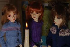 1st December (Little little mouse) Tags: dollstown ganga susie seola7 hazel deogi penelope dt7 bjd dollfie katzentabs lynnknit bygillknit adventcandle