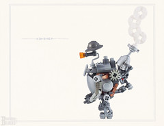 Stubby and Steamy (burningblocks) Tags: steampunk robot lego moc victorian vignette mech steam gears