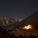 Shingin Tengboche monastery at night