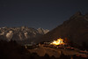 Shingin Tengboche monastery at night (Petr Meissner) Tags: tengboche exhibition thyangboche geographicfeatures stars ebctrek exhibed khumbu earth motion monastery nepal everesttrek