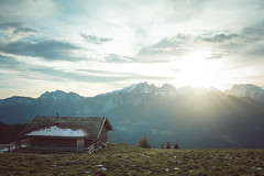 morning in the alps (Karin Ziegler) Tags: nikon d810 earlymorning mountains salzburg reiteralm lofer austria f8 35mm october cabin snow sunrise