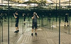 This is what I call a selfie. (vito.chiancone) Tags: selfie self myself i me mirrors house reflections oldstyle vintage australia brisbane photographer