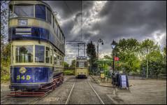 Crich Tramway Village 15 (Darwinsgift) Tags: crich tramway village national tram museum vintage bygone past stop voigtlander 28mm f28 color skopar sl ii nikon d810 hdr photomatix tripod