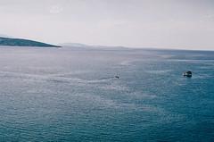 (Berill Sándor Photography) Tags: blue sea summer film water photography boat photo croatia analogue krk 2015 analóg