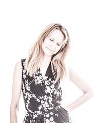 (#Weybridge Photographer) Tags: portrait woman slr beautiful female canon eos high model eyes key closed pretty hand adobe highkey hip dslr shut lightroom 40d
