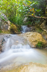 Polilimnio Falls (Chri Stall Klar) Tags: longexposure sea lake nature water canon river landscape lowlight paradise sigma hidden greece tropical peloponnes eos550d