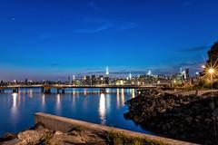 Greenpoint, Brooklyn, NY (emrudaphotography) Tags: nyc longexposure nightphotography brooklyn manhattanskyline empirestate ultrawide greenpoint lightroom niksoftware bwcpl nikon20mmf18 hoyand16 nikond610 nikon20f18