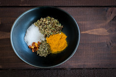 herbs and spices (Husbands That Cook) Tags: vegan lemon tofu casserole pasta vegetarian garlic mustard turmeric thyme macandcheese nutritionalyeast veganomicon veganmacandcheese