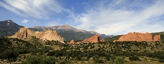 Garden of the Gods (KM Preston Photography) Tags: sky nature weather clouds landscape day gardenofthegods rockymountains skyscapes rockformations partlycloudy naturesfinest coloradospringsco gardenofthegodsco kmprestonphotography projectweather gogmainentrymg9862001