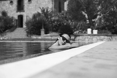 by the pool (gorbot.) Tags: summer blackandwhite monochrome swimmingpool sicily roberta sicilia canoneos5d silverefex carlzeisszf50mmplanarf14 agriturismogigliotto