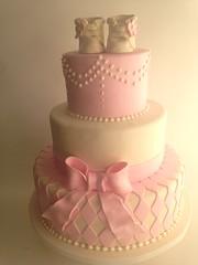 Elegant pink baby shower with booties (3780) (Asweetdesign) Tags: babybooties pinkbabyshowercake elegantbabyshower