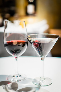 California cabernet sauvignon and martini