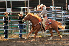 Tipping his hat (RPahre) Tags: cowboy colorado rodeo estespark rooftoprodeo