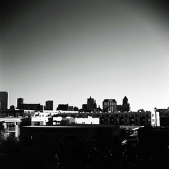 Milwaukee (aaronvandorn) Tags: blackandwhite 120 tlr mediumformat landscape redfilter darksky twinlensreflex fujiacros milwaukeewisconsin minoltaautocord wolfpeach rokkor75mmf35
