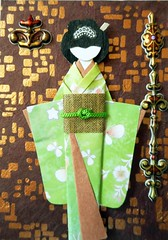 ATC1296 - Geisha against city lights (tengds) Tags: flowers brown white green lamp atc artisttradingcard asian japanese gold lights streetlamp card citylights kimono obi origamipaper artcard papercraft japanesepaper washi ningyo handmadepaper handmadecard chiyogami asiandoll yuzenwashi japanesepaperdoll nailsticker origamidoll kimonodoll nailartsticker tengds