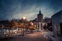 Autumn Song (Gilderic Photography) Tags: street morning autumn church lamp automne way lumix lights belgium belgique belgie panasonic liege eglise gilderic lx3 dmclx3