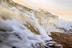 Wave breaking on shore, Greenly Beach, Eyre Peninsula (Robert Lang Photography) Tags: ocean sunset sea motion color colour beach nature water horizontal action wave nopeople shore rush splash peninsula breaking breakingwave eyre splashing shorebreak fastshutter robertlang eyrepeninsula greenly wavebreakingonshore greenlybeach robertlangportlincoln robertlangphotography wwwrobertlangcomau robertlangaustralia fujix100t