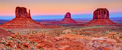 Twilight in the Valley (Greg Lundgren Photography) Tags: travel sunset red vacation arizona west night landscape utah twilight butte desert bluehour wilderness navajo monumentvalley iconic mesa rockformations navajotribalpark themittens theviewhotel