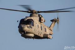 Royal Navy --- Agusta Westland Merlin HM.2 --- ZH850 (Drinu C) Tags: plane aircraft aviation sony merlin westland dsc mla agusta royalnavy hm2 lmml zh850 hx100v adrianciliaphotography