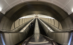 The Long Escalator at 7 Train Hudson Yards Station (千杯不醉的 drunkcat) Tags: escalator 7train nycsubway longescalator 7trainhudsonyardsstation